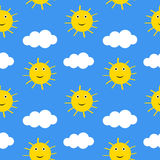 Suns and clouds. Royalty Free Stock Image