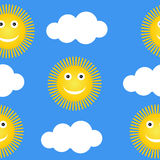 Suns and clouds. Royalty Free Stock Photography