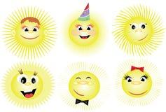 Suns CMYK Royalty Free Stock Photos