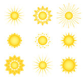 Suns. Elements for design. Stock Photos