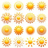 Suns. Elements for design. Stock Photo