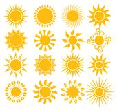 Suns - elements for design Royalty Free Stock Photography