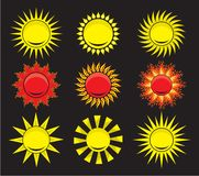 Suns - elements for design Stock Photo