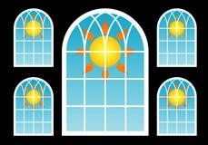 suns fönster Royaltyfria Foton