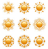 Suns icon Royalty Free Stock Images