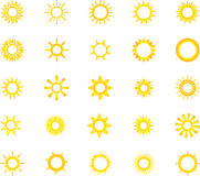 Suns icon set for you design Stock Photo