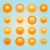 Suns icons Royalty Free Stock Photo