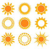 Suns icons collection Stock Images