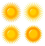 Suns icons Royalty Free Stock Images