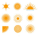Suns icons set Stock Photo