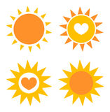 Suns icons Royalty Free Stock Photography
