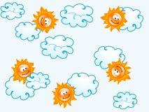 Suns pattern Stock Photography