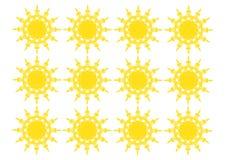 Suns pattern Royalty Free Stock Photography