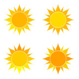 Suns set illustration Royalty Free Stock Photos