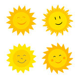 Suns with smile Royalty Free Stock Photo