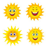 Suns with smile Stock Image