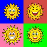 Suns with smile Stock Photography