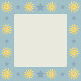 Suns with Stars Square Frame Stock Photography