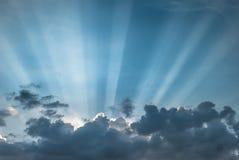 Suns Strahlen stockfotografie