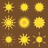 Suns vector collection Stock Photos