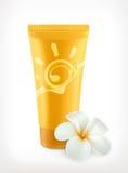 Sunscreen, διανυσματικό εικονίδιο Στοκ Εικόνα
