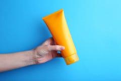 Sunscreen κρέμα Στοκ εικόνες με δικαίωμα ελεύθερης χρήσης