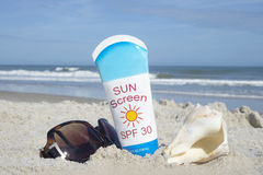 sunscreen Stockfoto