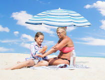 sunscreen Стоковое фото RF