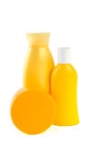 sunscreen 6 προϊόντων στοκ εικόνα