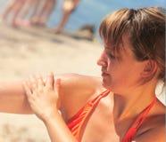 sunscreen Στοκ εικόνες με δικαίωμα ελεύθερης χρήσης