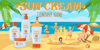 Sunscreen för hel familj också vektor för coreldrawillustration vektor illustrationer