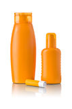 Sunscreen products Stock Photos