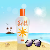 Sunscreen protection Royalty Free Stock Photography