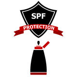 Sunscreen Protection Shield Royalty Free Stock Images