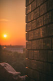 Sunseat. In city Belgrade, Serbia royalty free stock images