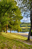 Sunseat on the lake Royalty Free Stock Photography