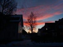 Sunseat norvegese di inverno Immagini Stock Libere da Diritti
