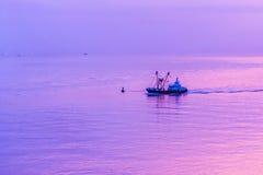 Sunseet above the sea. stock photography