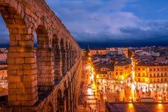 Sunseet in Segovia Stockfotografie