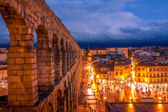 Sunset in Segovia Stock Photography