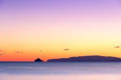 Sunsen im Winter auf dem Meer in Toskana mit Lizenzfreie Stockbilder