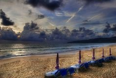 After sunsen on Karon beach.. Stock Photography