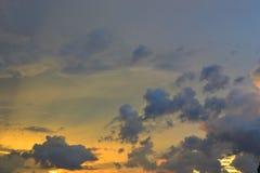 Sunset†‹promienia in†‹summer†‹at†‹thailand†‹ Zdjęcie Stock