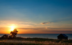 Sunset on �land, Sweden Stock Image