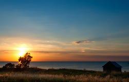 Sunset on Öland, Sweden Stock Image