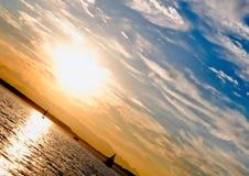 sunset żeglując Obraz Stock