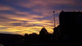 Sunset& x27; цвет s стоковые изображения rf