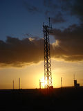 Sunset 012. Sunset at a closed military station at tenerife island stock photo