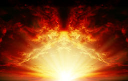 Sunset_03 vermelho imagens de stock royalty free