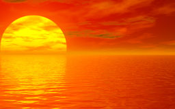 Sunset . 1 Royalty Free Stock Photo